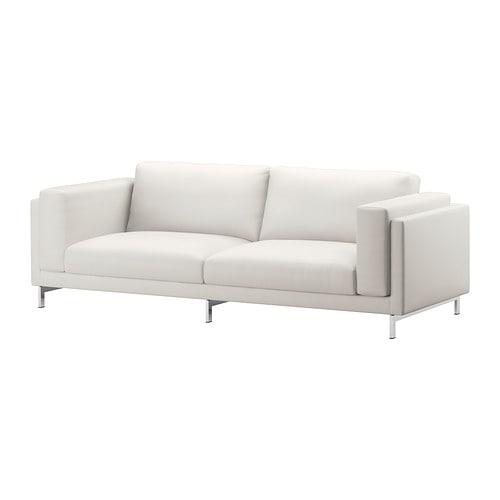 Nockeby funda para sof de 3 plazas risane blanco ikea - Funda sofa 3 plazas ...
