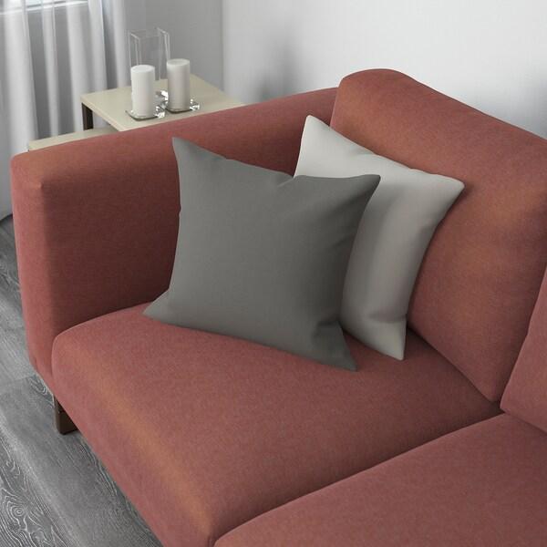 NOCKEBY sofá 2 plazas Tallmyra rojo óxido/madera 203 cm 97 cm 82 cm 15 cm 60 cm 44 cm