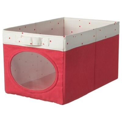 NÖJSAM Caja, rojo claro, 25x37x22 cm