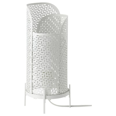 NOLLPUNKT Lámpara de mesa, blanco, 34 cm