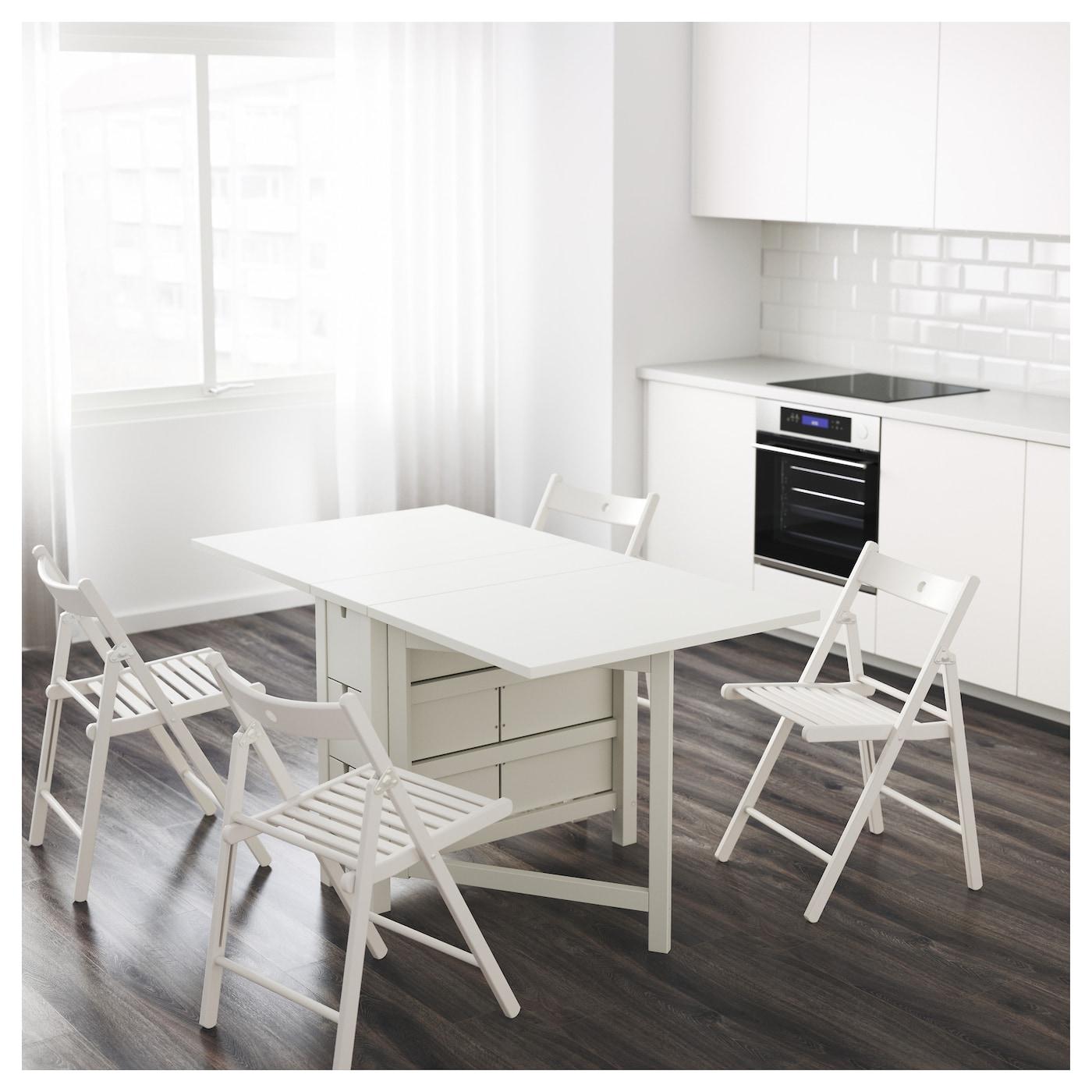 NORDEN Mesa alas abatibles Blanco 26/89/152 x 80 cm - IKEA