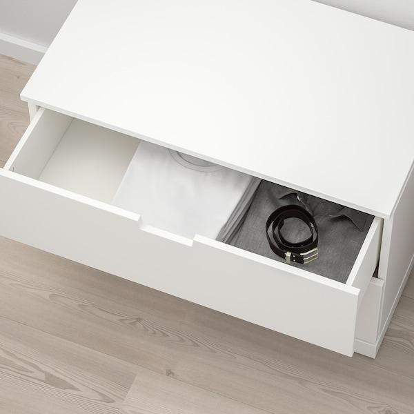 NORDLI Cómoda de 2 cajones, blanco, 80x54 cm