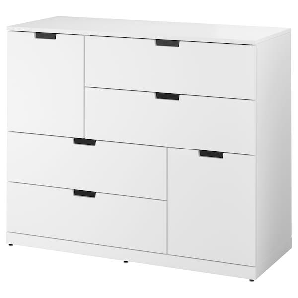 NORDLI Cómoda 6 cajones, blanco, 120x99 cm