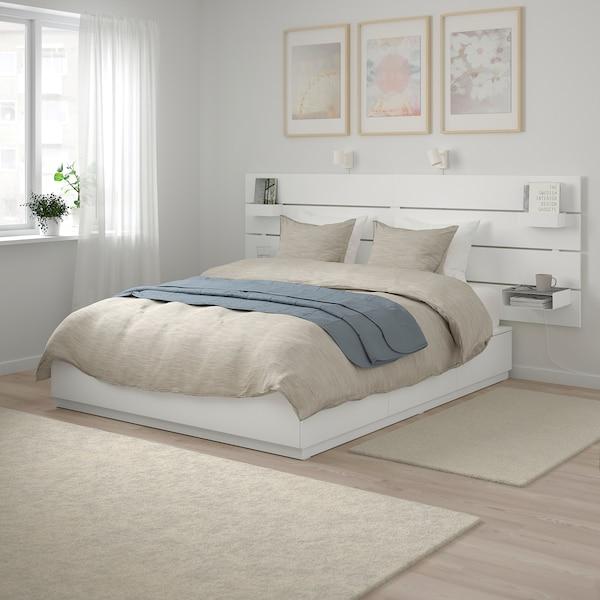 NORDLI Estructura de cama+cajones+cabecero, blanco, 140x200 cm