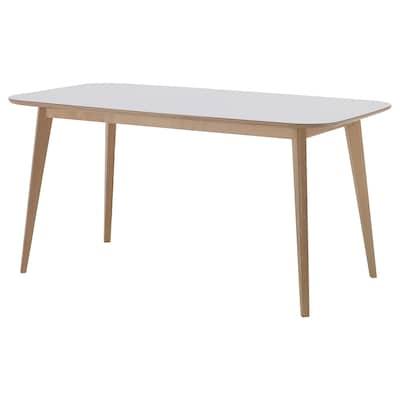 NORDMYRA Mesa, blanco/abedul, 150x85 cm