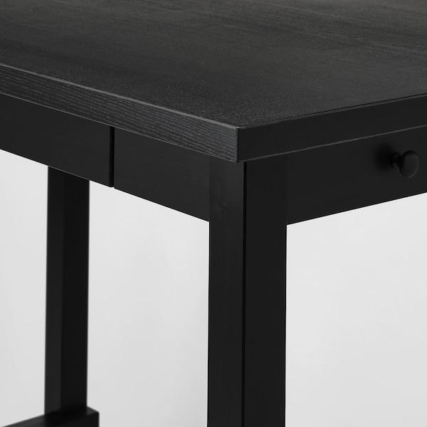 NORDVIKEN Mesa alta, negro, 140x80x105 cm