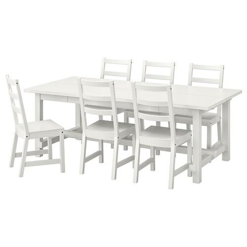 NORDVIKEN / NORDVIKEN mesa y 6 sillas blanco/blanco 210 cm 289 cm 105 cm