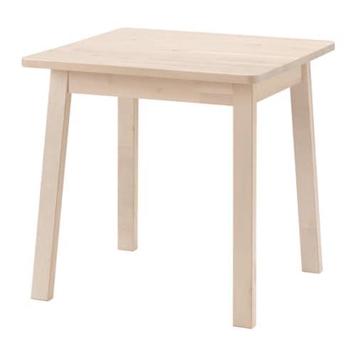 NORRÅKER Mesa Blanco abedul 74 x 74 cm - IKEA