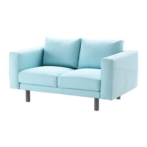 NORSBORG Sofá 2 plazas - Edum azul claro, gris - IKEA