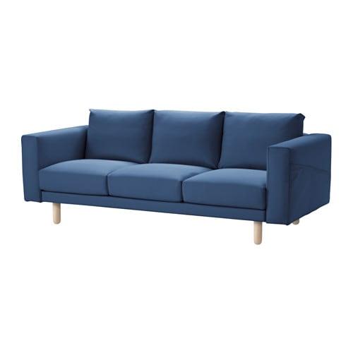 Norsborg sof 3 plazas edum azul oscuro abedul ikea - Ver sofas en ikea ...