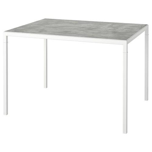 NYBODA mesa centro tablero reversible gris claro efecto cemento/blanco 75 cm 60 cm 50 cm