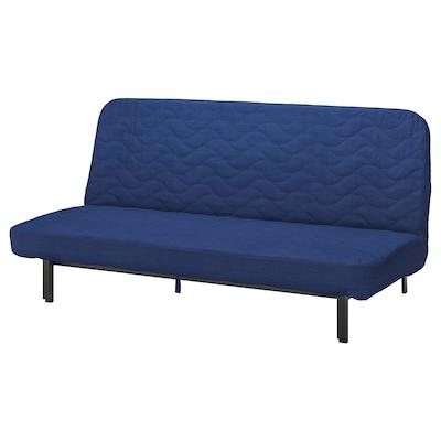 NYHAMN Sofá cama 3 plazas, con colchón de espuma/Skiftebo azul