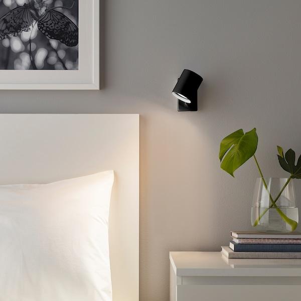 NYMÅNE Aplique/lámpara lectura instal fija, antracita