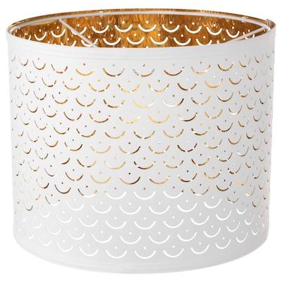 NYMÖ Pantalla para lámpara, blanco/color bronce, 32 cm