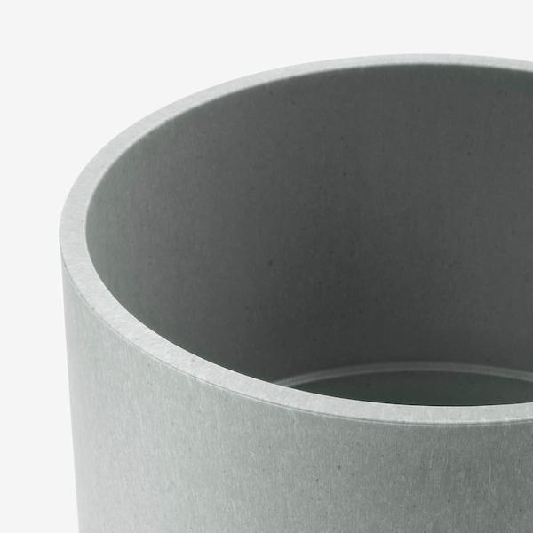 NYPON Macetero, int/ext gris, 15 cm