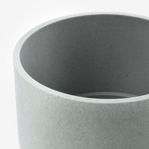 NYPON Macetero, int/ext gris, 9 cm