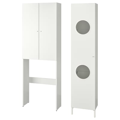 NYSJÖN Combinación para la colada, blanco, 105x32x190 cm