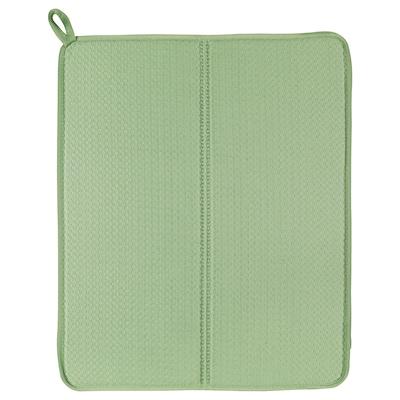 NYSKÖLJD Alfombrilla escurreplatos, verde, 44x36 cm