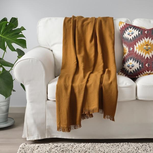 ODDRUN Manta, dorado oscuro, 130x170 cm