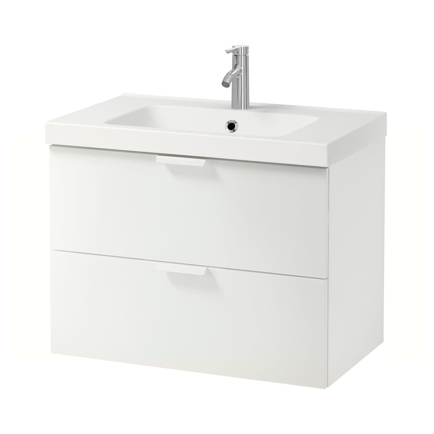 Odensvik godmorgon armario lavabo 2 cajones blanco 83 x 49 x 64 cm ikea - Armario lavabo ikea ...