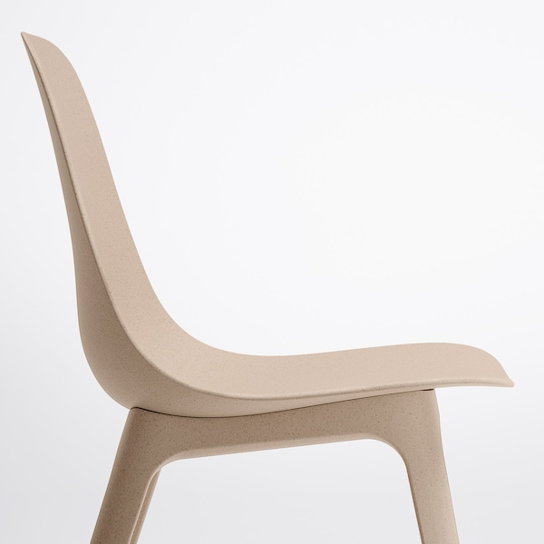 ODGER Silla, blanco/beige