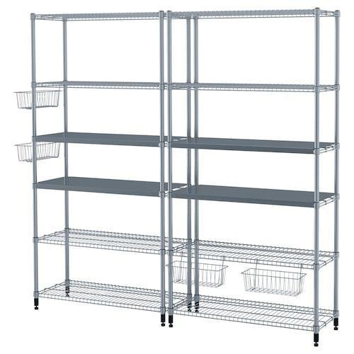 IKEA OMAR 2 secciones estante