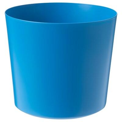 OMFÅNG Macetero, int/ext azul, 15 cm