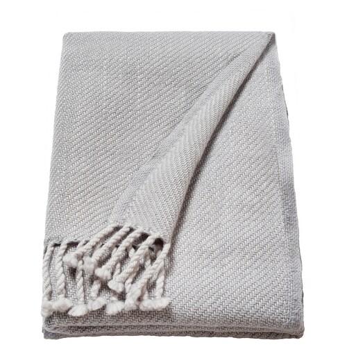 OMTÄNKSAM manta gris claro 160 cm 60 cm