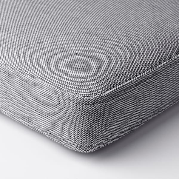 OMTÄNKSAM Cojín para silla, Orrsta gris claro, 40x40 cm