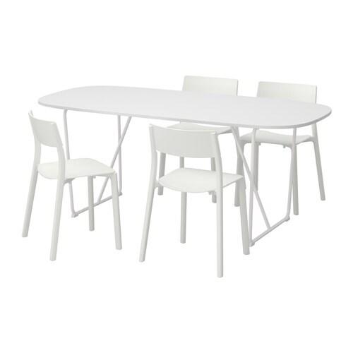 Oppeby backaryd janinge mesa con 4 sillas ikea - Sillas con reposabrazos ikea ...