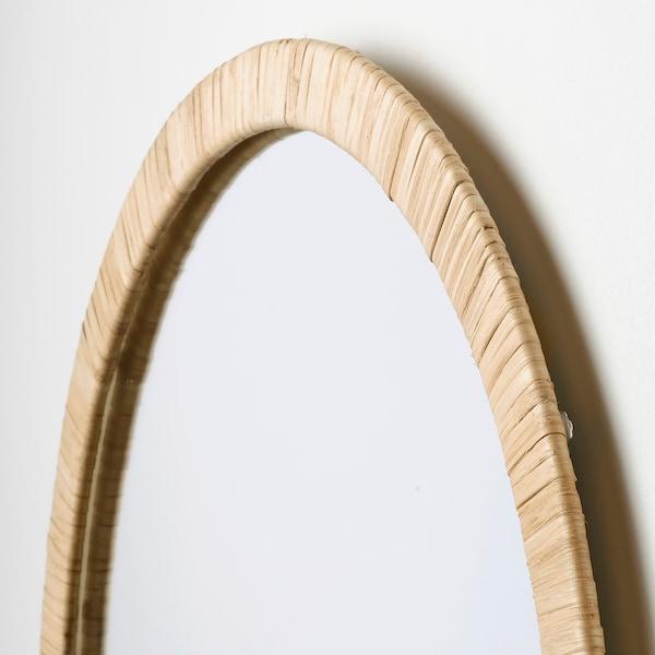 OPPHEM Espejo, ratán, 54x77 cm