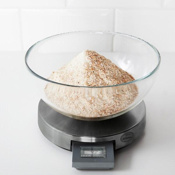 ORDNING Báscula de cocina, ac inox, 3 kg