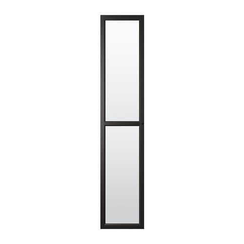 Puerta de vidrio, negro-marr�n