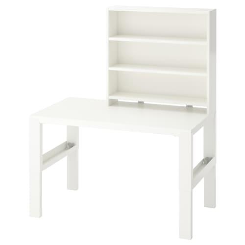 PÅHL escritorio con estantería blanco 96 cm 58 cm 119 cm 132 cm 50 kg
