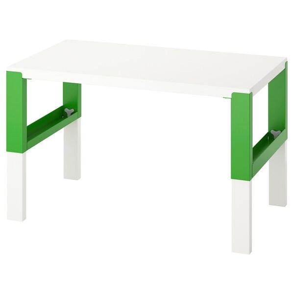 PÅHL Escritorio, blanco/verde, 96x58 cm