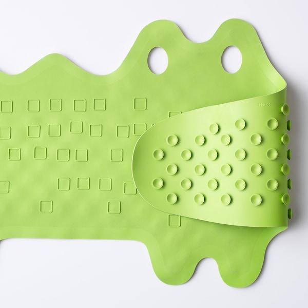 PATRULL Alfombrilla para bañera, cocodrilo verde, 33x90 cm