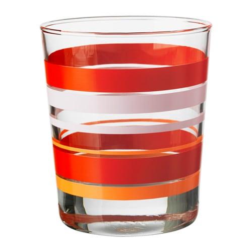PÅVERKA Vaso, naranja/rojo, rosa