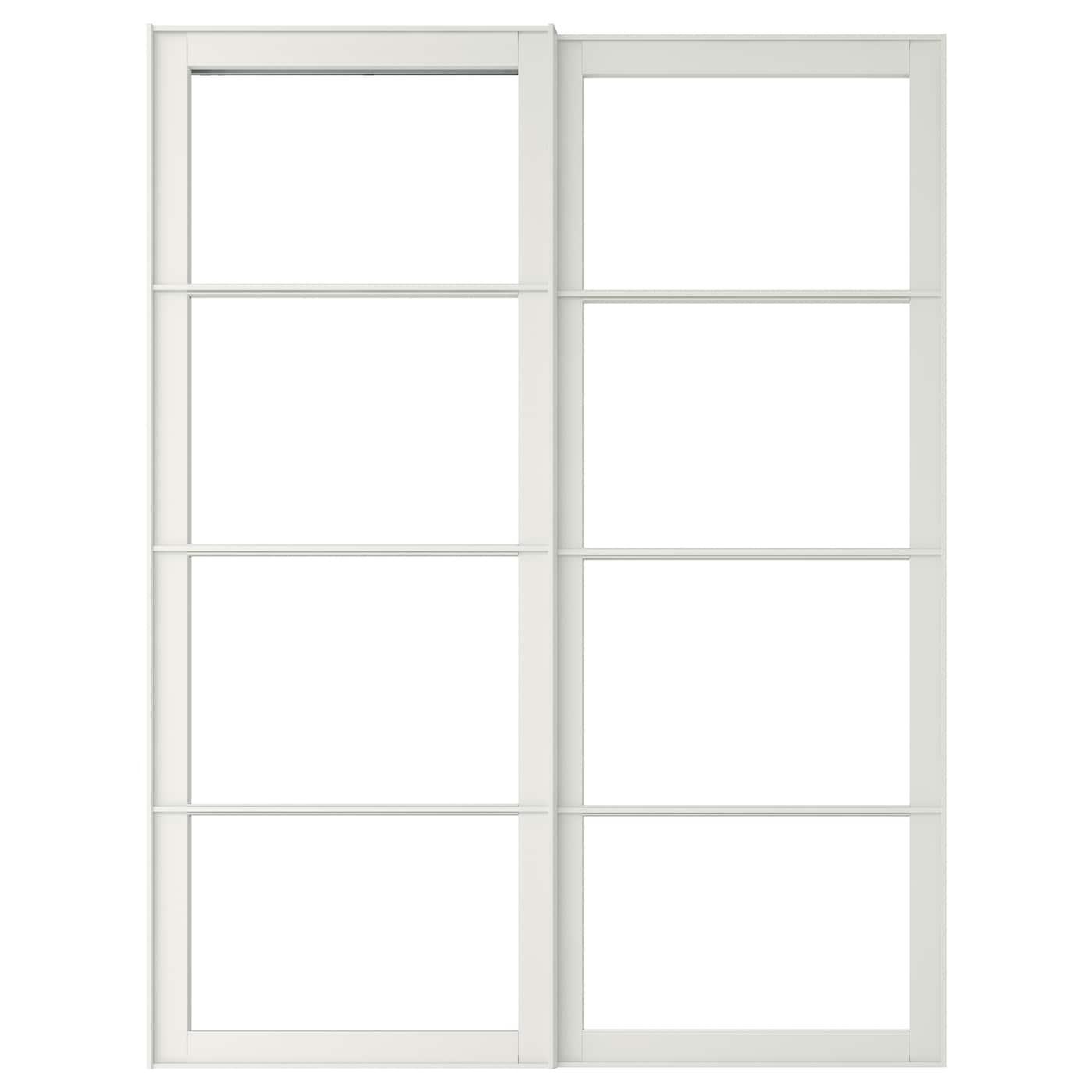 Pax 2 Estructriel Ppuertas Correderas Blanco 150 X 236 Cm Ikea - Puertas-japonesas-deslizantes