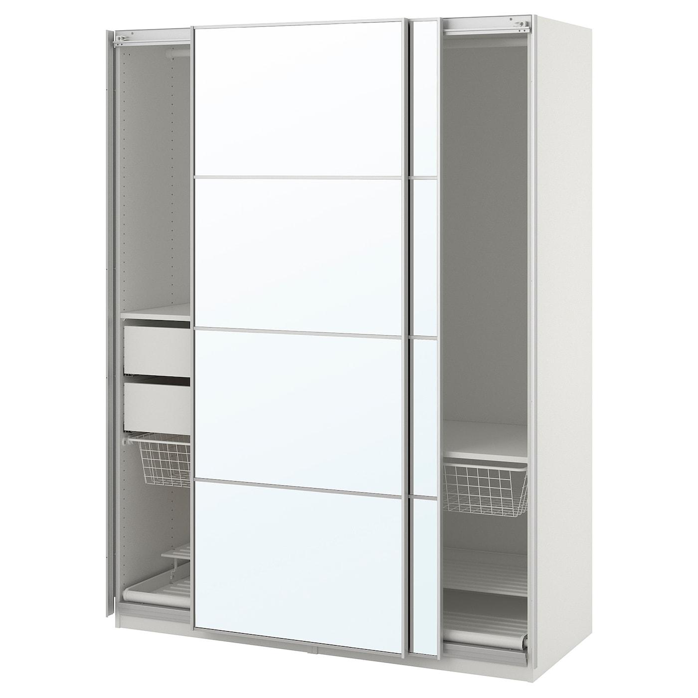 Pax armario blanco auli espejo 150 x 66 x 201 cm ikea - Espejo blanco ikea ...