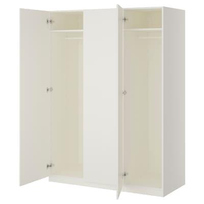 PAX Armario, blanco/Forsand blanco, 150x60x201 cm
