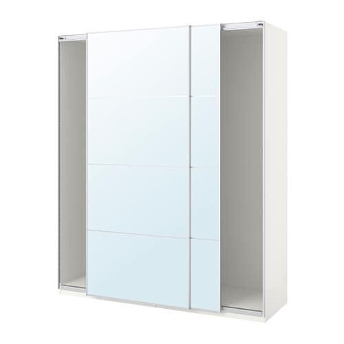 Pax Armario Con Puertas Correderas Blancoauli Espejo 200 X 44 X 236