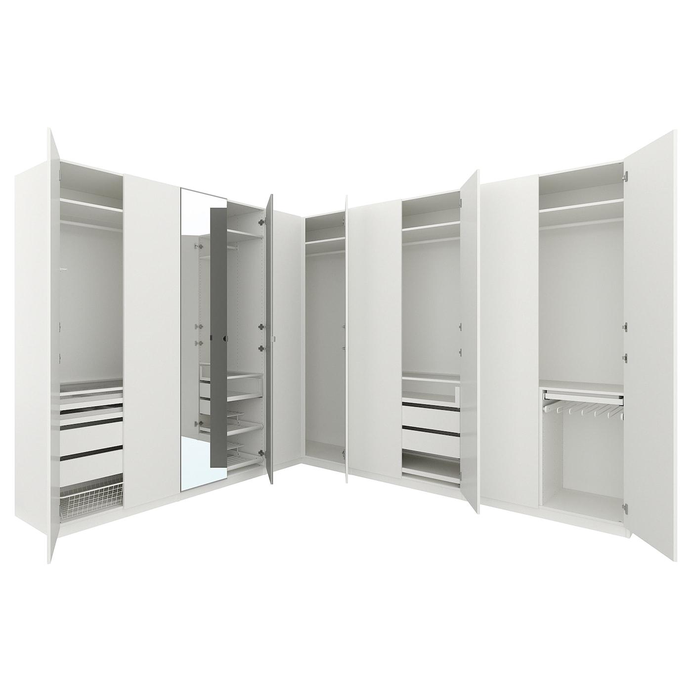 Pax armario esquina blanco forsand vikedal 310 310 x 236 cm ikea - Ikea armarios modulares ...