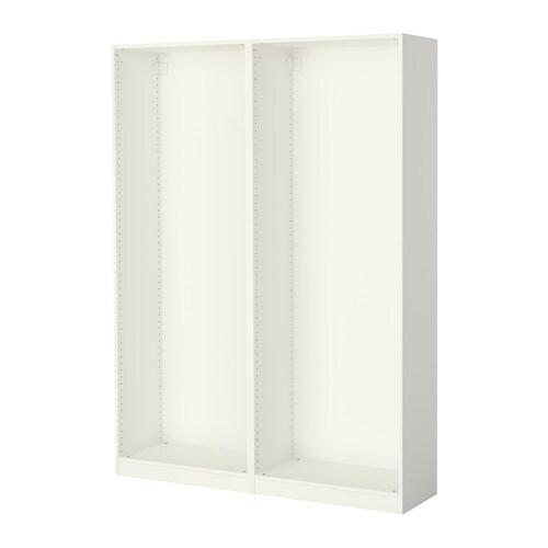 Pax 2 estructuras de armario ikea for Armario blanco puertas correderas ikea