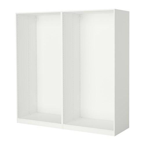 Pax 2 estructuras de armario blanco ikea - Estructuras armarios ikea ...