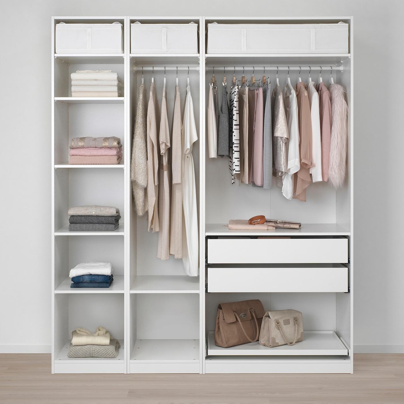 PAX GRIMO Combinación armario blancoGrimo gris 200x60x236 cm