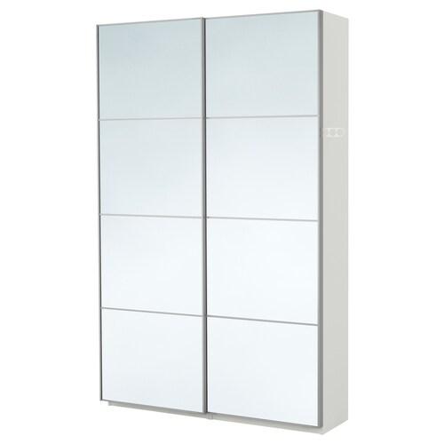 PAX armario blanco/Auli espejo 150.0 cm 44.0 cm 236.4 cm
