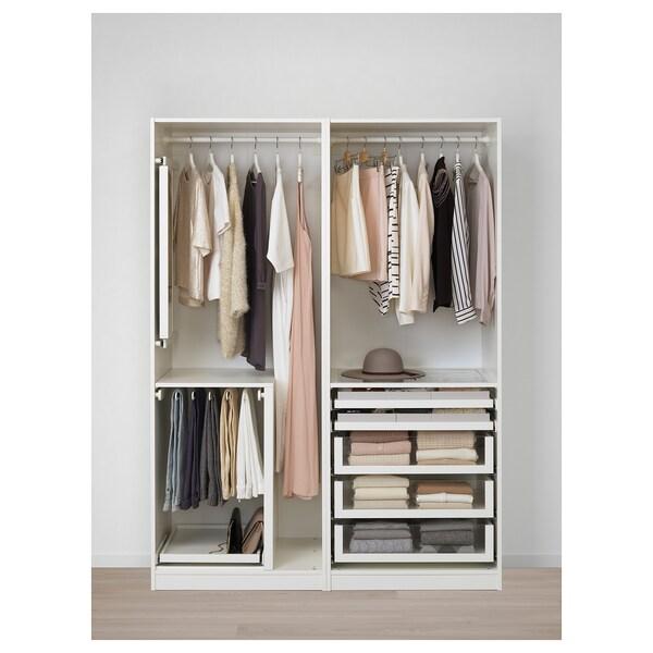 PAX armario blanco/Hasvik blanco 150.0 cm 66.0 cm 201.2 cm