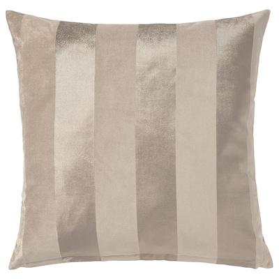 PIPRANKA Funda de cojín, beige claro, 50x50 cm