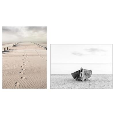 PJÄTTERYD Cuadro, fotografía de playa, 50x70 cm
