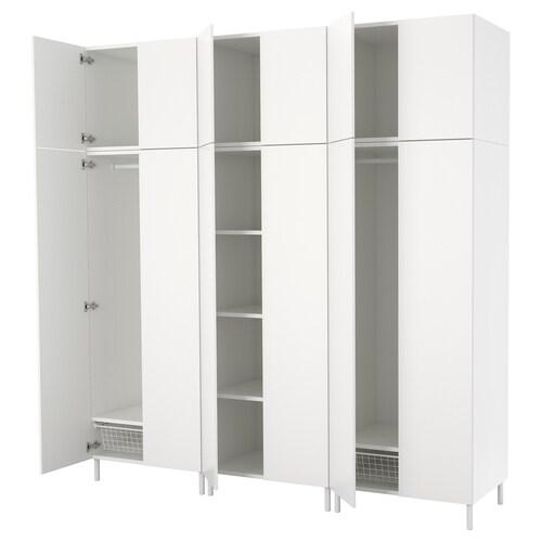 PLATSA armario blanco/Fonnes blanco 240 cm 57 cm 251 cm